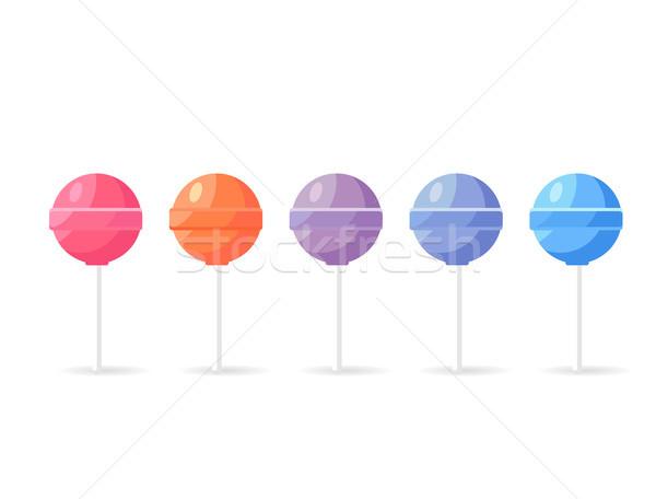 Lollipops Candy Set Isolated on White Background Stock photo © robuart