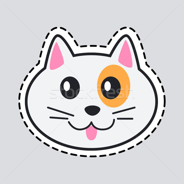 Muzzle of Cat. Cut it out. Icon of Isolated Animal Stock photo © robuart