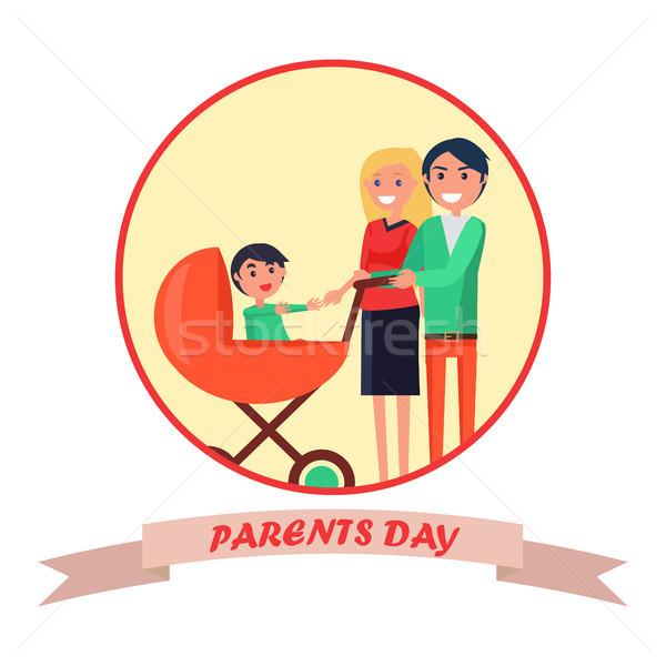 ポスター 碑文 専用の 両親 日 バナー ストックフォト © robuart