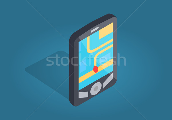 GPS navegación interfaz ubicación teléfono ciudad Foto stock © robuart