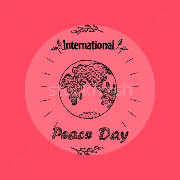 Uluslararası barış gün promo poster görüntü Stok fotoğraf © robuart