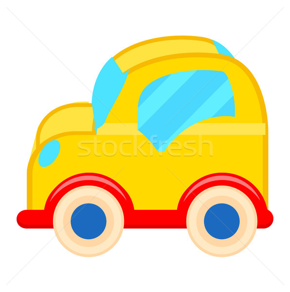 Yellow Toy Car with White Wheels Illustration Stock photo © robuart