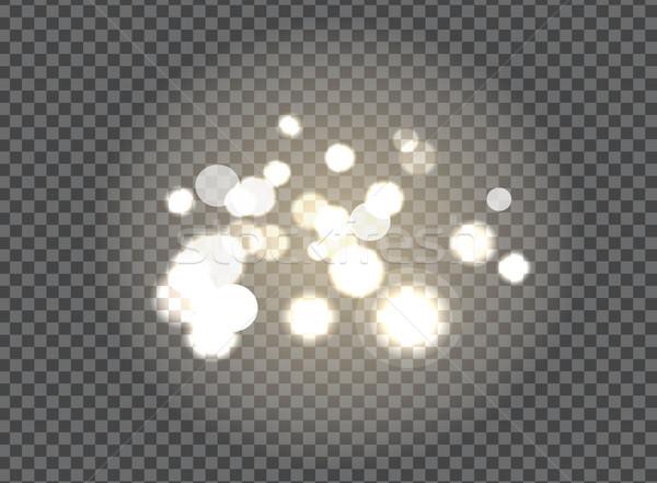 Offuscata frizzante elementi nero isolato Foto d'archivio © robuart