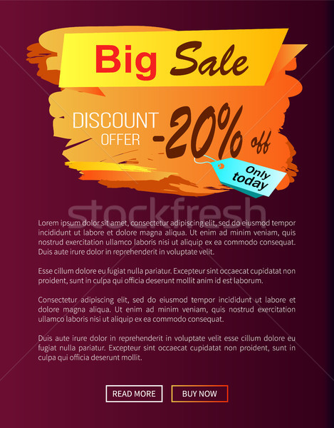 Stock photo: Big Sale Discount Offer Only Today -20 Off Autumn