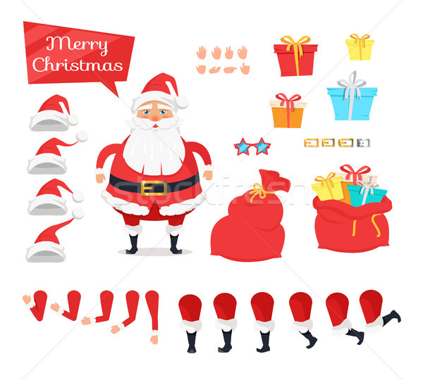Сток-фото: набор · различный · иконки · веселый · рождество