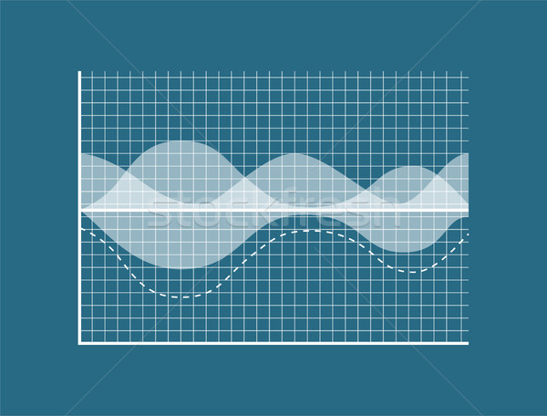 Transparent Graph Isolated on Blue Background Stock photo © robuart
