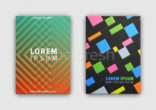 セット 2 カバー パターン 見出し サンプル ストックフォト © robuart