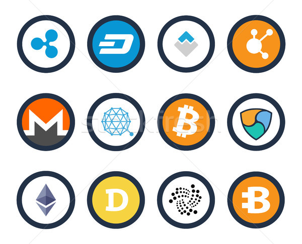 Cryptocurrency Set of Icons Vector Illustration Stock photo © robuart