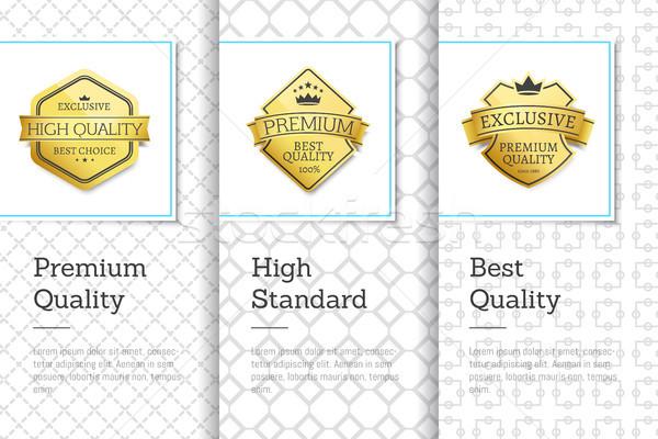 プレミアム ベスト 品質 バナー 排他的な 選択 ストックフォト © robuart
