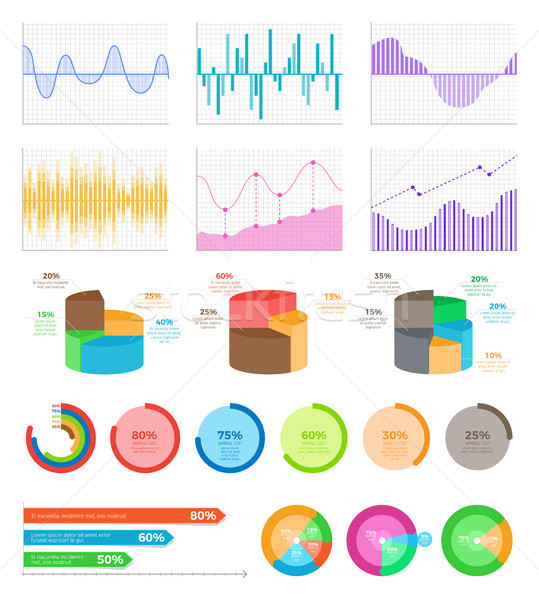 Graphics on Coordinate System and Bright Diagrams Stock photo © robuart
