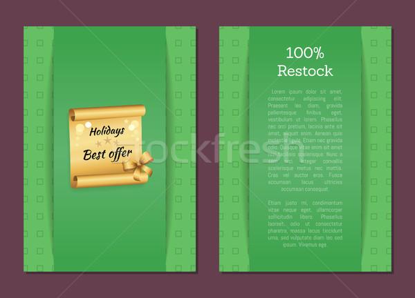 100 árengedmény utalvány ünnepek legjobb ajánlat Stock fotó © robuart