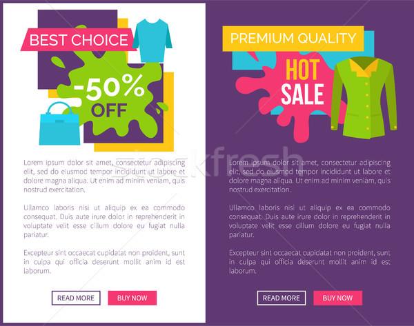 Legjobb választás forró vásár termékek prémium minőség Stock fotó © robuart