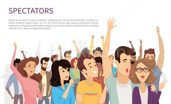 Spectators Isolated on White Vector Illustration Stock photo © robuart