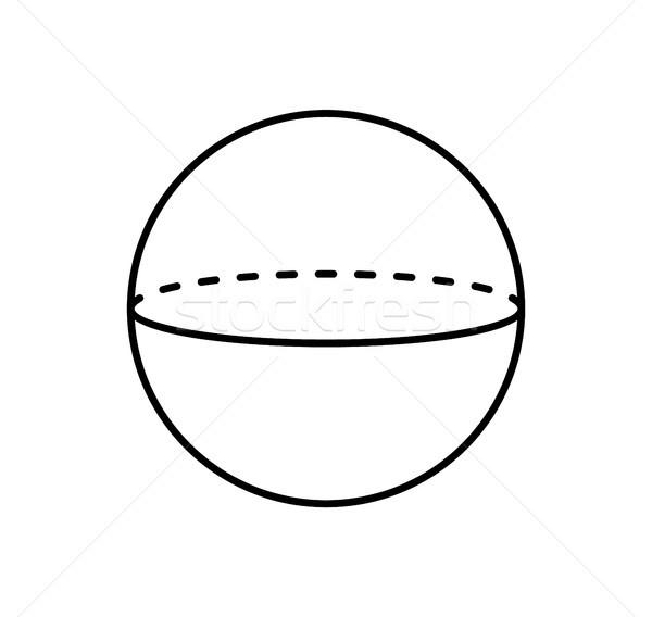 Küre projeksiyon düz hatları poster geometrik Stok fotoğraf © robuart