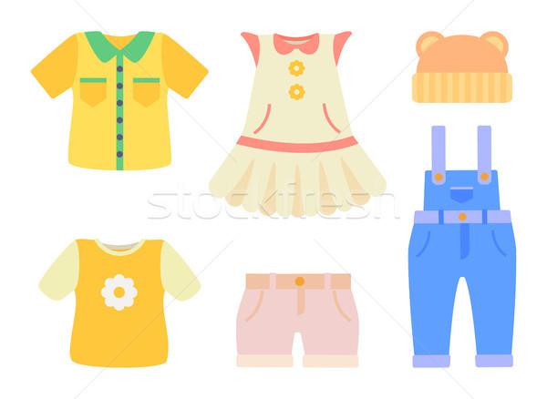 赤ちゃん 服 コレクション ポスター 服 シャツ ストックフォト © robuart