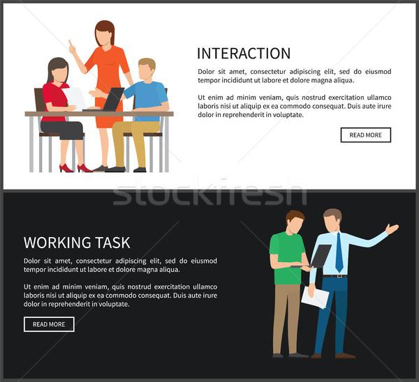 Interactiune lucru sarcina text esantion şef Imagine de stoc © robuart