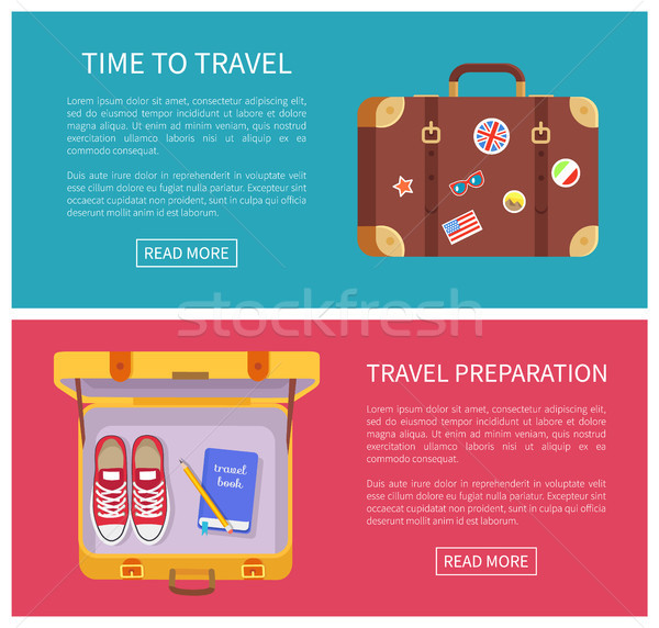 Time to Travel Collection Vector Illustration Stock photo © robuart