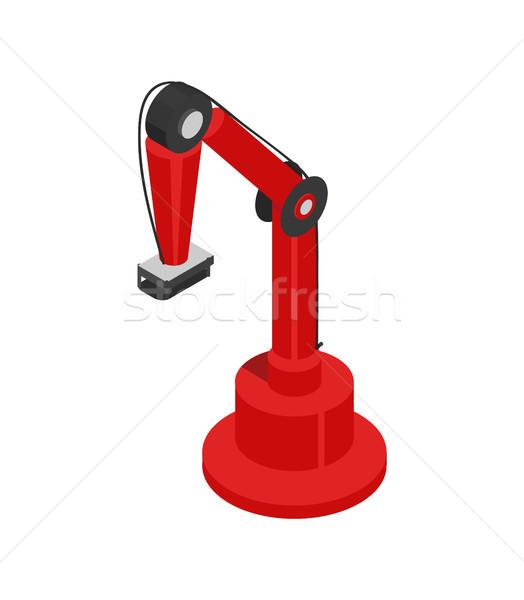 гидравлический робота красочный карт изолированный Сток-фото © robuart