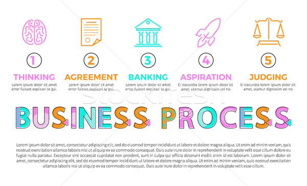 Business Process Icons of Different Operations Stock photo © robuart