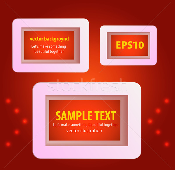 Display text box design with rounded corners Stock photo © robuart