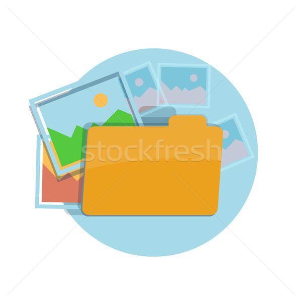 Icon of folder with pictures Stock photo © robuart
