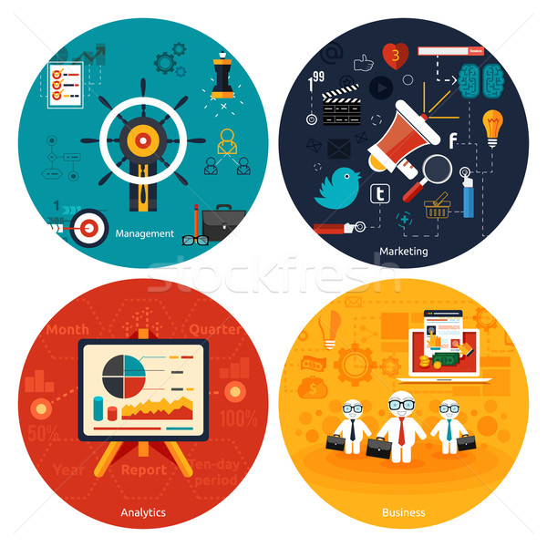 Icons for marketing, management, analytics. Stock photo © robuart