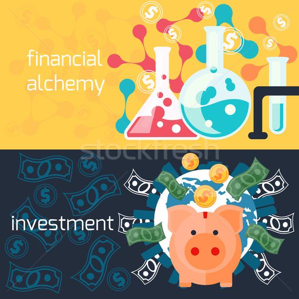 Global yatırım finansal simya kavram para Stok fotoğraf © robuart