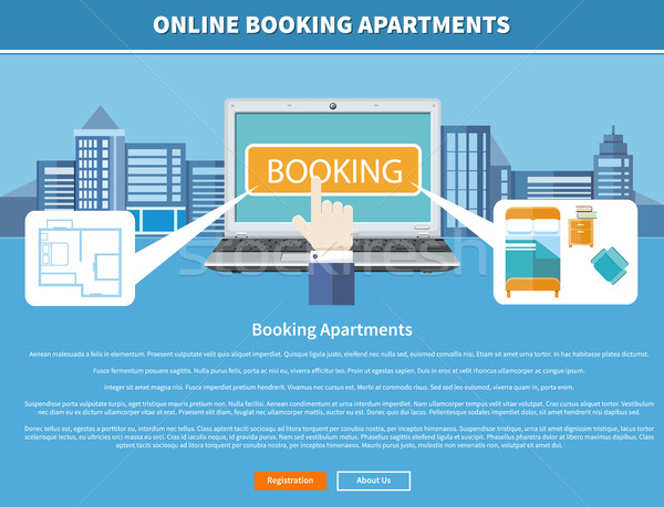 Online Booking Apartments Stock photo © robuart