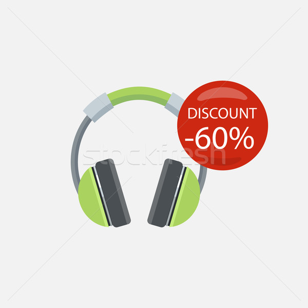 Vásár háztartás készülékek fejhallgató elektronikus berendezés Stock fotó © robuart