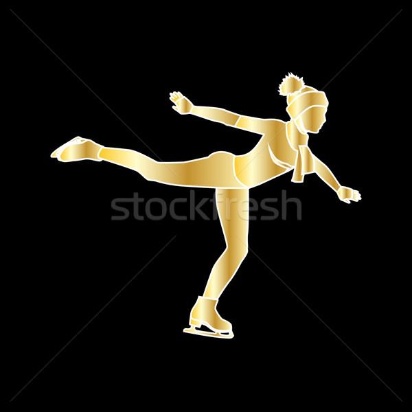 Persone pattinaggio stile design pattinaggio artistico Foto d'archivio © robuart