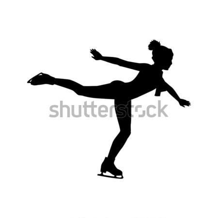 Personas patinaje estilo diseno patinaje sobre hielo patinaje artístico Foto stock © robuart