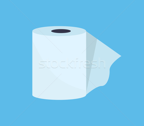 Toilet Paper Web Banner Flat Design Stock photo © robuart