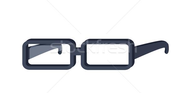 眼鏡 デザイン ベクトル スタイル 長方形の ストックフォト © robuart