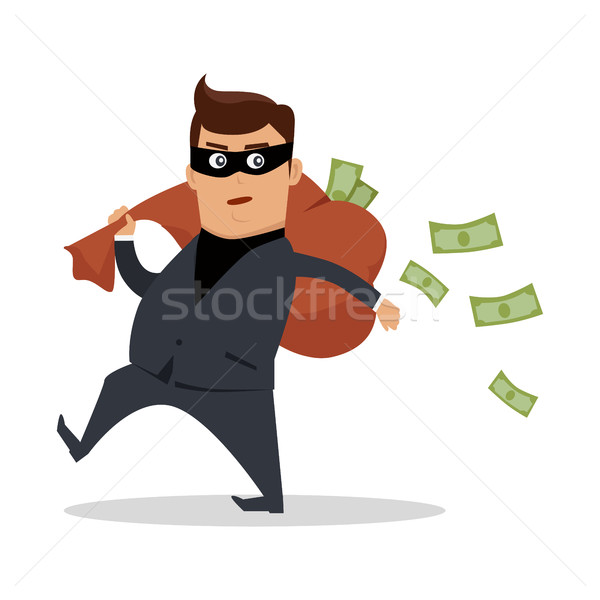 Money Stealing Concept Flat Design Vector Stock photo © robuart