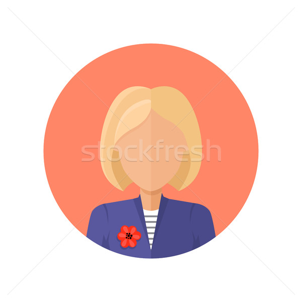 Young Woman Avatar without Facial Features. Stock photo © robuart
