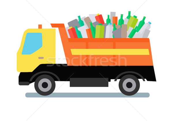 Garbage Truck with Trash Stock photo © robuart