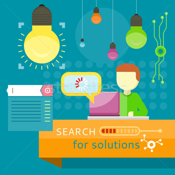 Search for Solutions Banner. Business Strategy Stock photo © robuart
