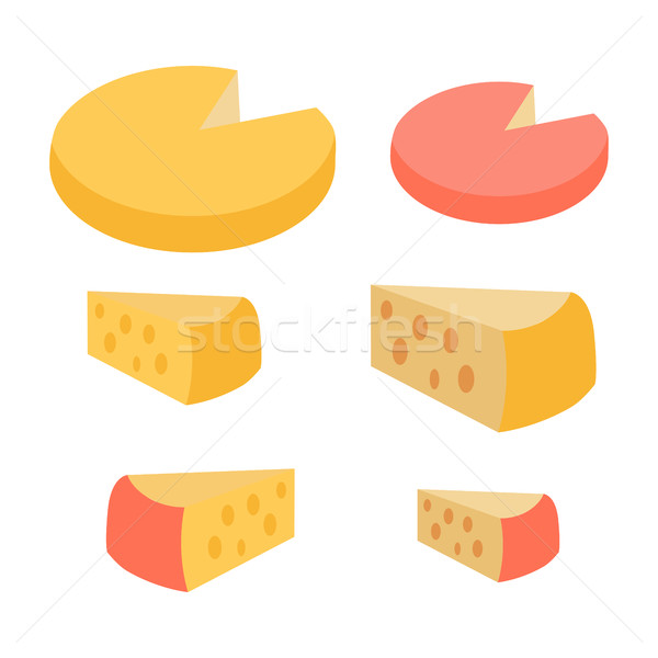 Set of Different Cheese Types. Varieties of Pieces Stock photo © robuart