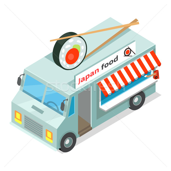 Japan Food Street Eatery in Isometric Projection Stock photo © robuart