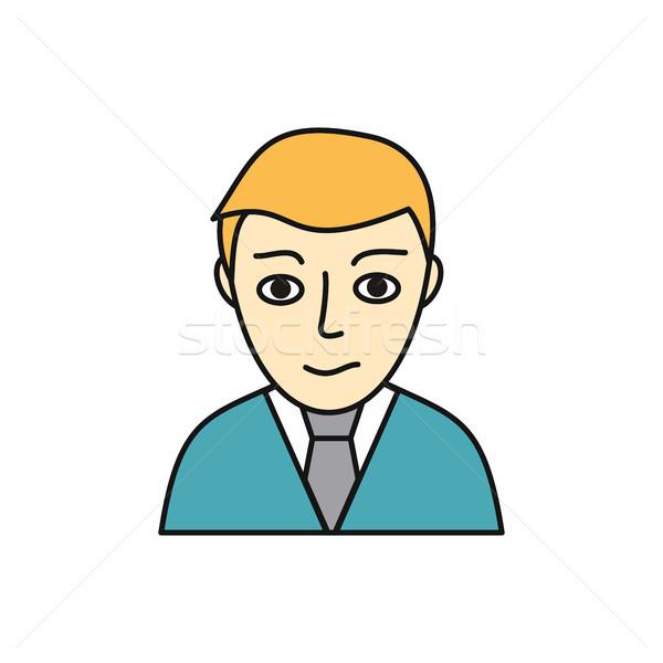 Fiatalember avatar ikon fiatal szőke férfi Stock fotó © robuart