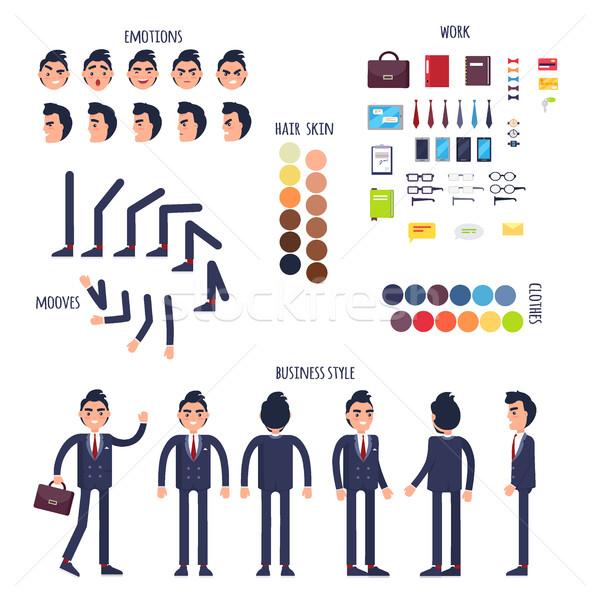 Businessman Character Generator Flat Vector Stock photo © robuart
