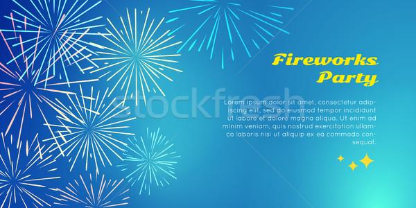 Fajerwerków strony kolor wybuchu elementy kolorowy Zdjęcia stock © robuart