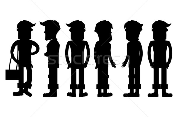 Set of Hipster Characters Vector Silhouettes Stock photo © robuart