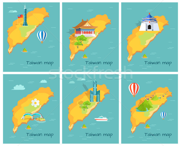 Concept of Taiwan Map in Pacific Ocean Graphic Stock photo © robuart