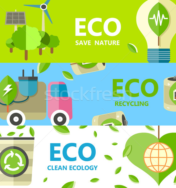 Save Nature, Recycling and Clean Ecology Poster Stock photo © robuart
