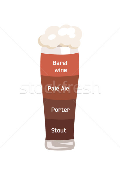 Barrel Wine and Pale Ale Vector Illustrartion. Stock photo © robuart