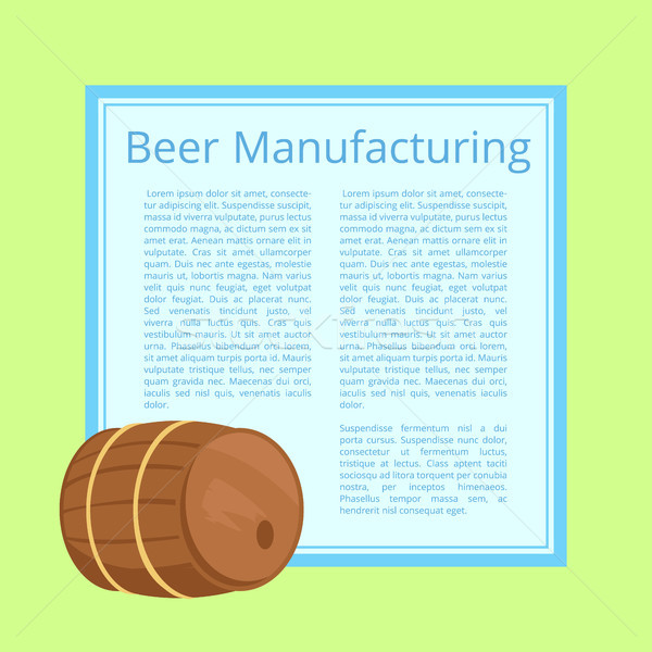 Beer Manufacturing Vector Illustration with Text Stock photo © robuart