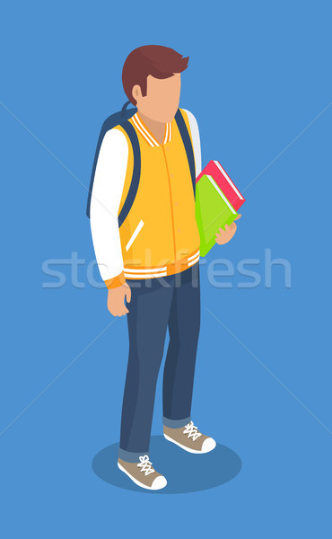 Schoolboy from Secondary School with Backpack Stock photo © robuart