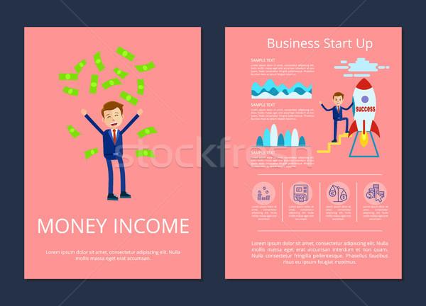 Pénz jövedelem üzlet kezdet felfelé üzletember Stock fotó © robuart