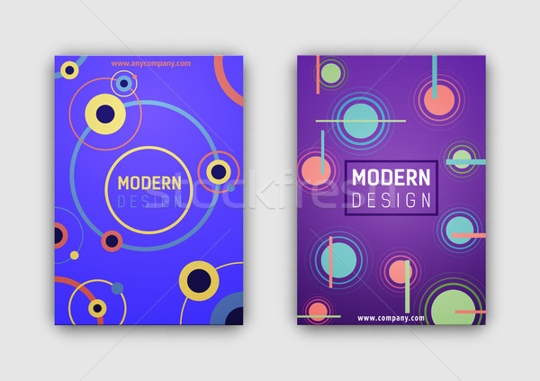Modern Design and Website Link Vector Illustration Stock photo © robuart